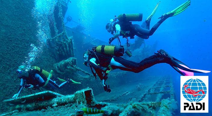 padi wreck diver course puerto galera