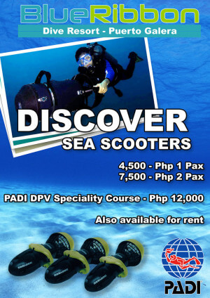 PADI DPV diver propulsion vehicle puerto galera