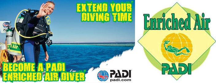padi enriched air diver