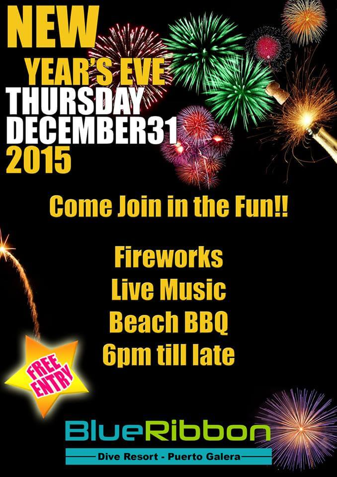 blue ribbon dive resort new years eve party