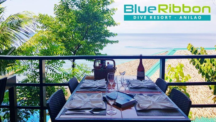 blue ribbon resort restaurant anilao philippines